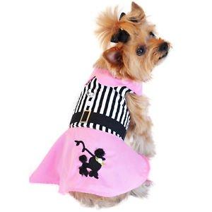 XS DOG DRESS teacup yorkie chihuahua maltese POODLE SKIRT DRESS SHIPS FROM USA