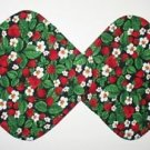 "** NEW ITEM ** 8"" Hot Pot Pad/Pot Holder Set - STRAWBERRIES ON BLACK"