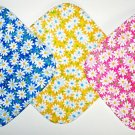 "8"" Hot Pot Pads/Pot Holders - TRIO OF WHITE DAISIES  - All Handmade"