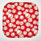 "8"" Hot Pot Pad/Pot Holder - BASEBALLS ON RED - All Handmade"