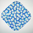 "8"" Hot Pot Pad/Pot Holder - WHITE DAISIES ON BLUE - All Handmade"