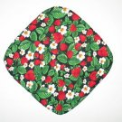 "8"" Hot Pot Pad/Pot Holder - STRAWBERRIES ON BLACK - All Handmade"