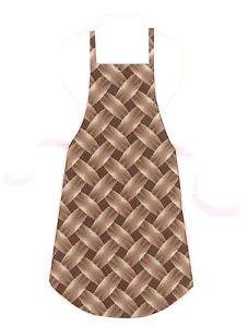 Full Size Adult Apron - BROWN BASKETWEAVE - All Handmade