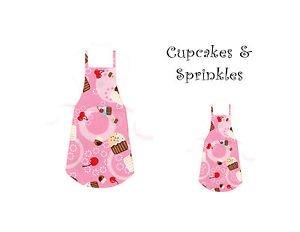 Mommy & Me Apron Set - CUPCAKES & SPRINKLES - All Handmade