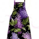 Child Size Apron - All Handmade - PURPLE BOUQUET