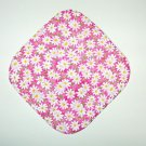 "8"" Hot Pot Pad/Pot Holder - WHITE DAISIES ON PINK - All Handmade"