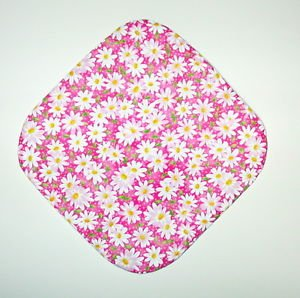 """8"""" Hot Pot Pad/Pot Holder - WHITE DAISIES ON PINK - All Handmade"""