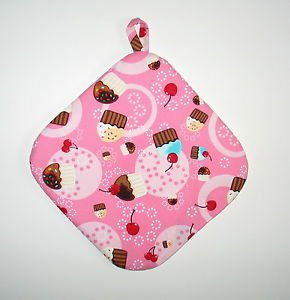 "8"" Hot Pot Pad/Pot Holder with Hanger - CUPCAKES & SPRINKLES - All Handmade"