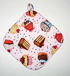 """8"""" Hot Pot Pad/Pot Holder with Hanger - SWEETS - All Handmade"""