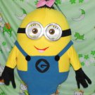 Custom made girl Minion mascot costume for adult and children Holloween