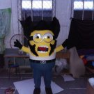 Custom made Despicable Me Wolverine Minion mascot costume for party