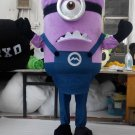 Despicable Me Purple Minion Mascot costume for party