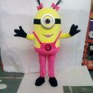 Custom made Pink girl Minion Mascot Costume Cosplay From Despicable