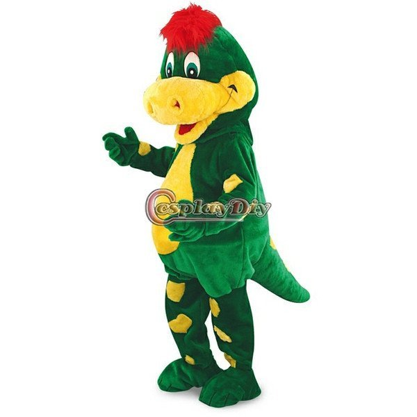 Custom made Green Dinosaur mascot costume for party