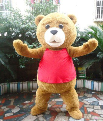 Custom made Ted Bear mascot costume for party