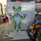 Custom made friendly lovely green husky fursuit mascot costumes Dog mascot Halloween Costumes