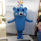 Custom made Lovely Cute Blue Bear mascot costume for party