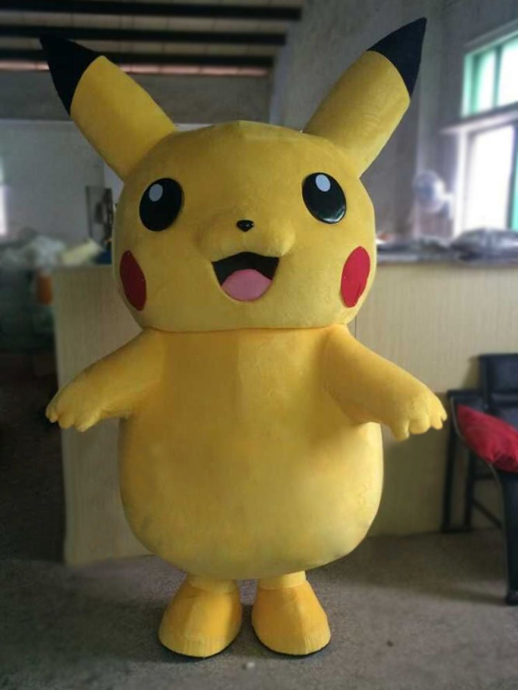Custom made Pikachu mascot costume for Halloween party