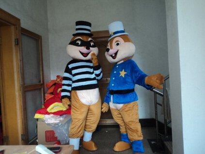 Custom made Chipmunks mascot costume for Christmas party