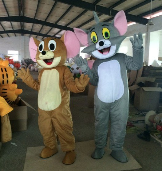 Custom made Tom and Jerry mascot costume for Christmas party