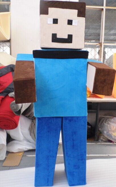Custom made Minecraft mascot costume for Halloween party