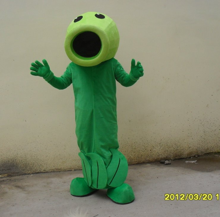 Custom made Plant mascot costume from Plants vs. Zombies for party