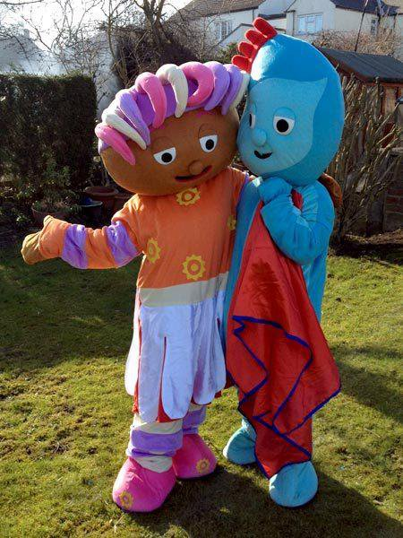Custom made Iggle Piggle and Upsy Daisy Mascot Costume for Birthday party