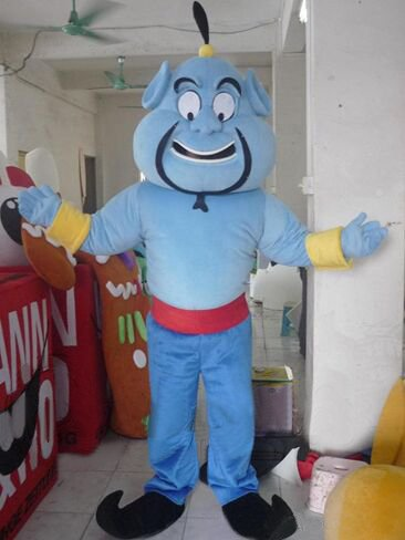 Customized blue aladdin genie mascot costumes Halloween Costumes Chirstmas Party