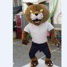 Custom made bethel University wildcat mascot costume adult animal cartoon