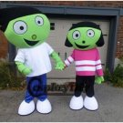 Custom made Dot and Dash mascot costume for party