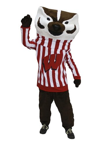 Customized new Bucky Badger mascot costumes Wisconsin Badger for party