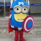 Despicable Me Captain America Minion mascot costume for party