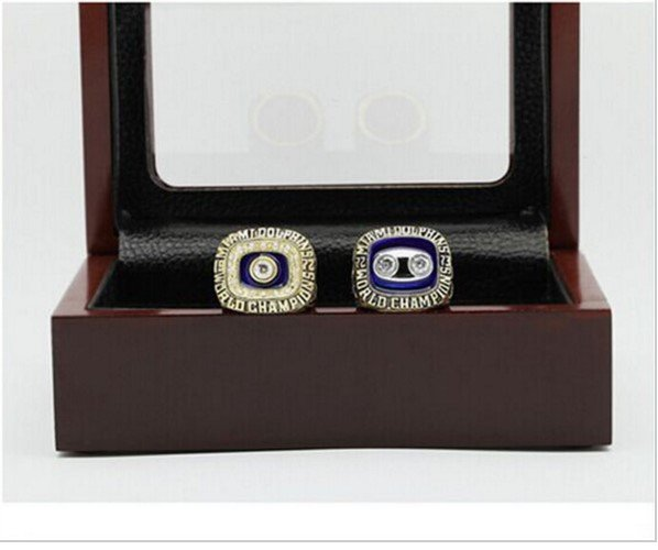 1972 & 1973 Miami Dolphins Super Bowl Replica Championship RIng Set-Copper with 24K Gold Plating
