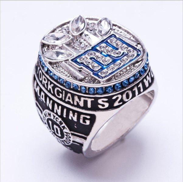 High Quality New York Giants 2011 Super Bowl Championship Replica Ring-Free Shipping