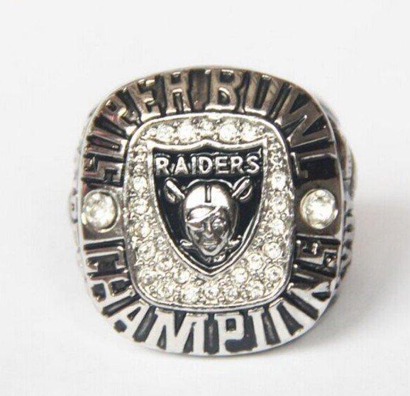 High Quality Oakland Raiders 3 Super Bowl Championship Replica Ring-Free Shipping
