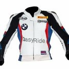3 easy ride Classic motorbike motorcycle LEATHER JACKET with protections