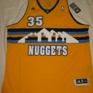 Kenneth Faried Denver Nuggets Gold Retro XL Adidas Swingman Jersey