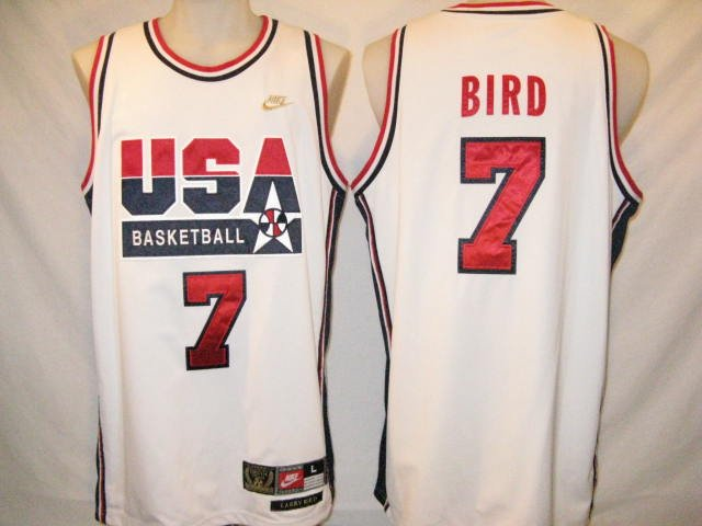 brand new 8809e c5ed2 Larry Bird Nike Authentic White XL Dream Team Jersey