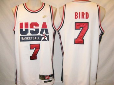 brand new f974a 2e615 Larry Bird Nike Authentic White XL Dream Team Jersey
