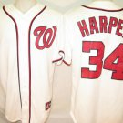 Bryce Harper Washington Nationals Men's 2XL Majestic Home Replica Jersey