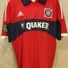 Chicago Fire Red Men's XL Adidas Climacool MLS Replica Jersey