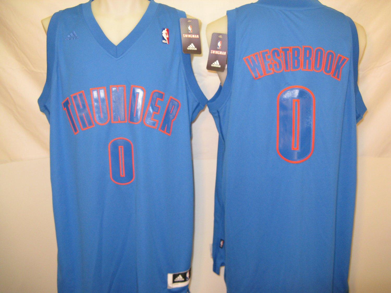 Russell Westbrook Oklahoma City Thunder Men's Large 2012 Christmas Swingman Jersey
