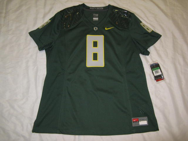 Oregon Ducks Green #8 Women's XL Nike Game Jersey
