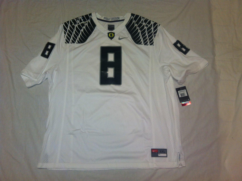 Oregon Ducks White 3XL #8 (Marcus Mariota) Nike Game Jersey