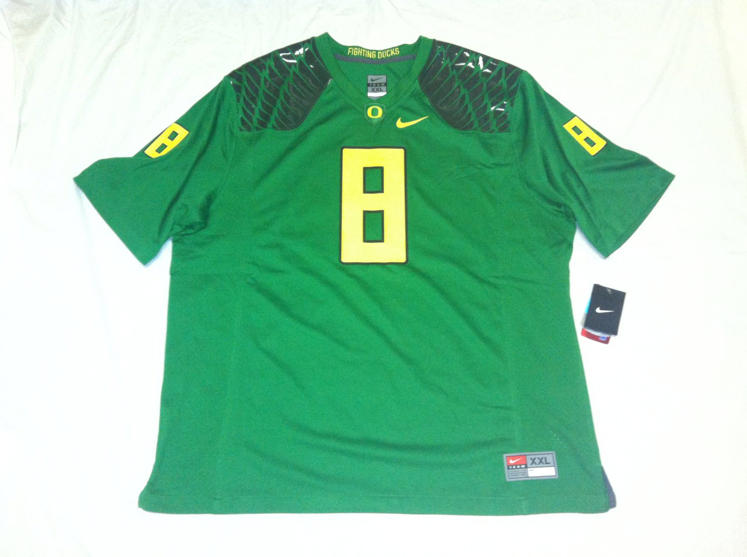 Oregon Ducks Candy Green 2XL #8 (Marcus Mariota) Nike Game Jersey