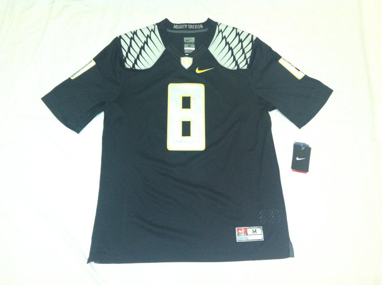 Oregon Ducks Black #8 (Marcus Mariota) Medium Nike Limited Jersey