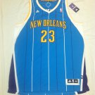 Anthony Davis New Orleans Hornets Throwback Teal 2XL Adidas Swingman Jersey