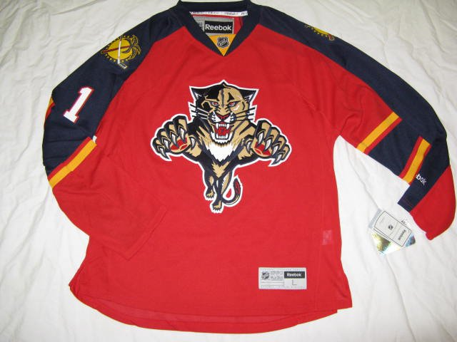 Roberto Luongo Florida Panthers Red Home 2015 Reebok Authenic Size 50 Jersey