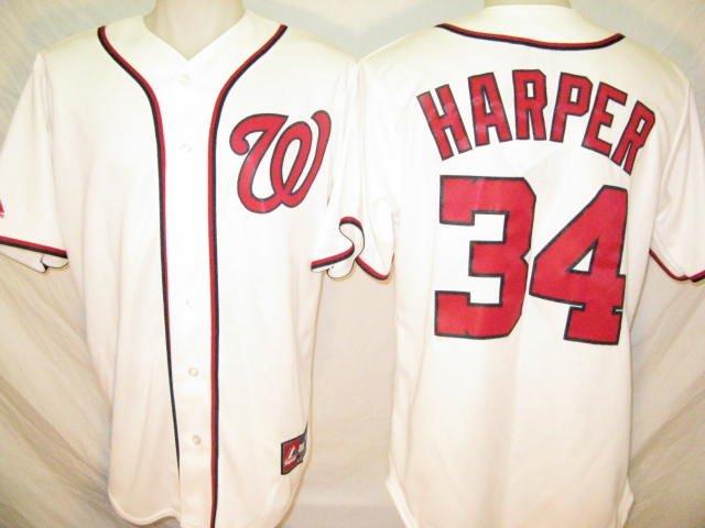 Bryce Harper Washington Nationals Majestic Medium Home Replica Jersey