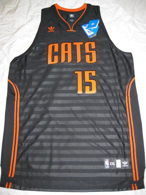 reputable site eb4cf 293f3 Kemba Walker Charlotte Bobcats 2XL Black Adidas Groove ...